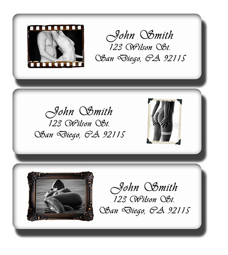 Framed Nudes Labels