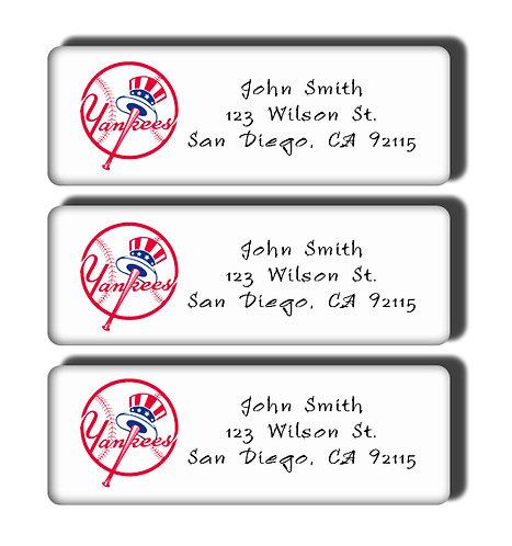 New York Yankees Labels