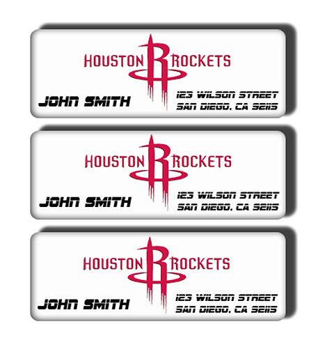 Houston Rockets Labels