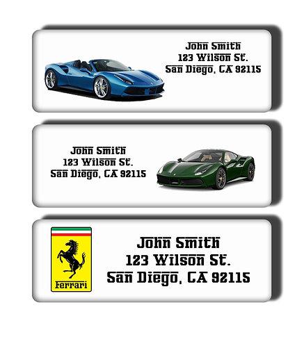 Ferrari Cars Labels