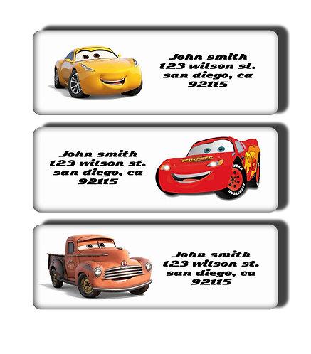 Cars Labels