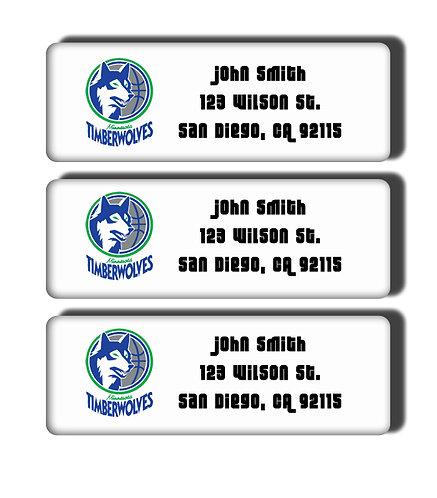 Minnesota Timberwolves Throwback Labels