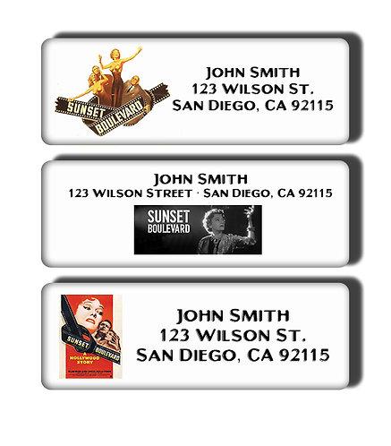 Sunset Boulevard Labels
