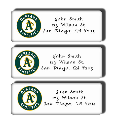 Oakland Athletics Labels