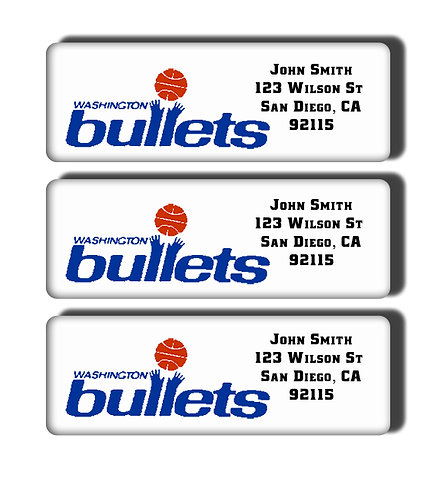 Washington Bullets Labels