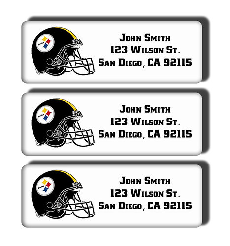 Pittsburgh Steelers Labels