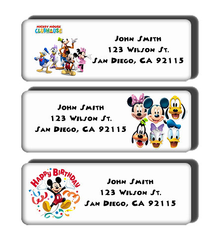 Mickey Mouse Clubhouse Labels
