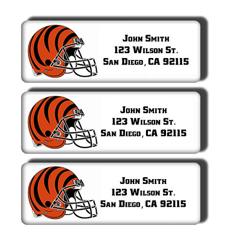 Cincinnati Bengals Labels