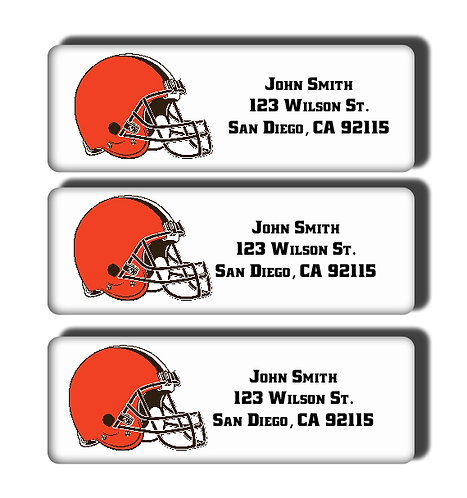 Cleveland Browns Labels