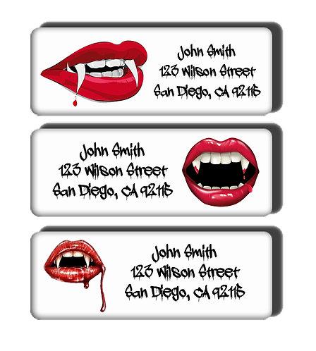 Vampire Fangs Labels