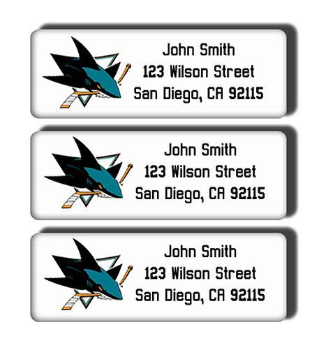 San Jose Sharks Labels