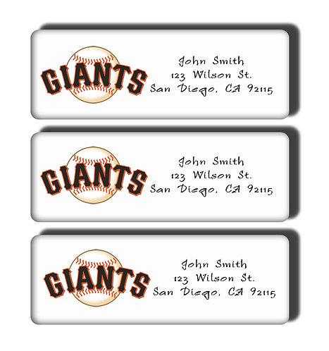 San Francisco Giants Labels