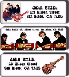 Monkees return address labels