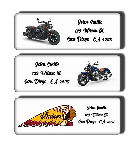 Indian Motorcycle Labels