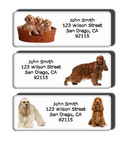 Cocker Spaniel Labels
