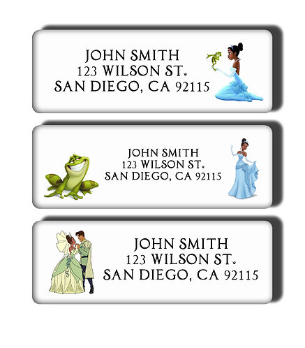 Princess and the Frog Labels