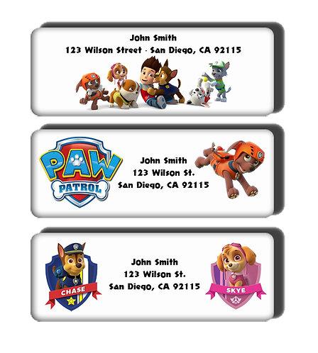 Paw Patrol Labels
