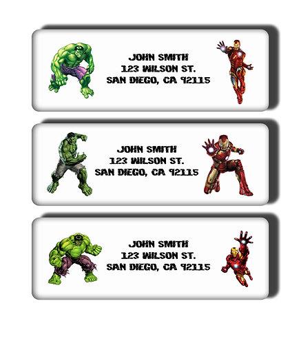 Iron Man vs. Incredible Hulk Labels