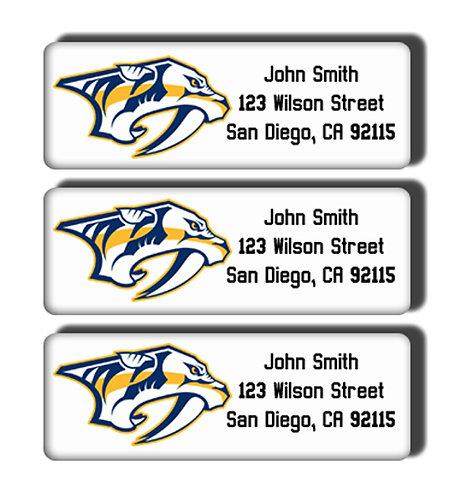Nashville Predators Labels