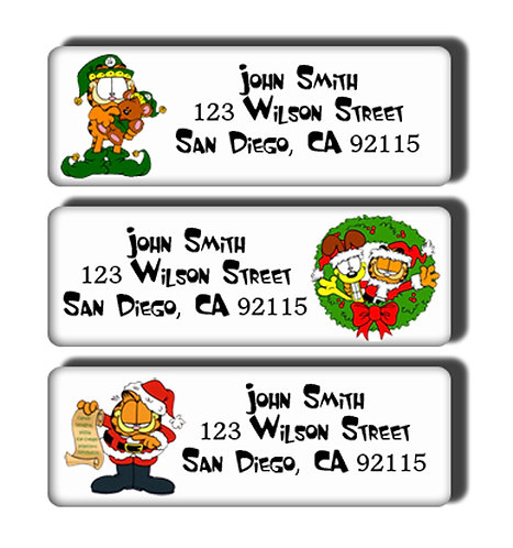 Garfield Christmas Labels