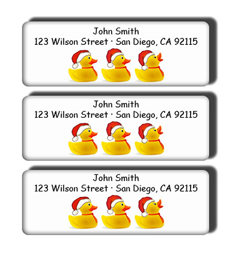 Christmas Duck Trio Labels