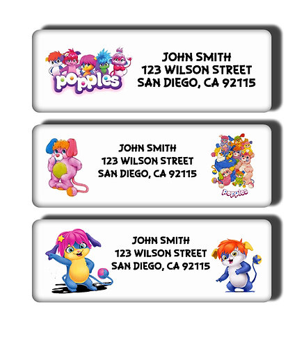 Popples Labels
