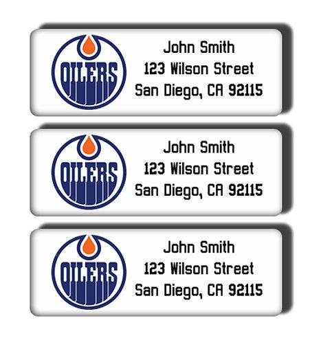 Edmonton Oilers Labels