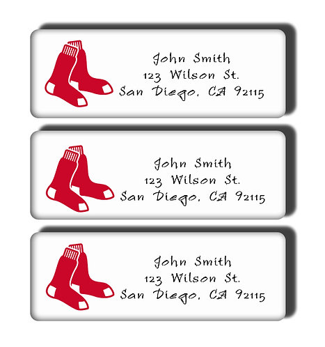 Boston Red Sox Labels