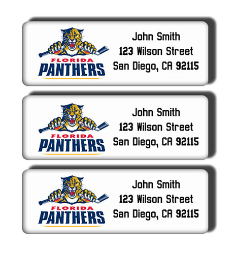 Florida Panthers Labels