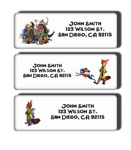 Zootopia Labels