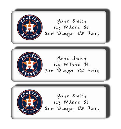Houston Astros Labels