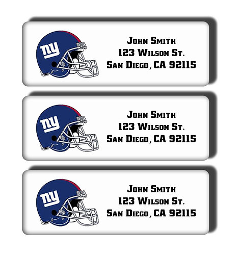New York Giants Labels
