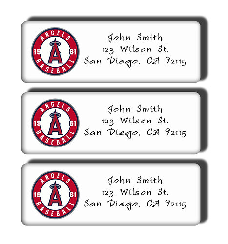 Los Angeles Angels Labels