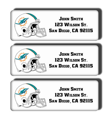 Miami Dolphins Labels