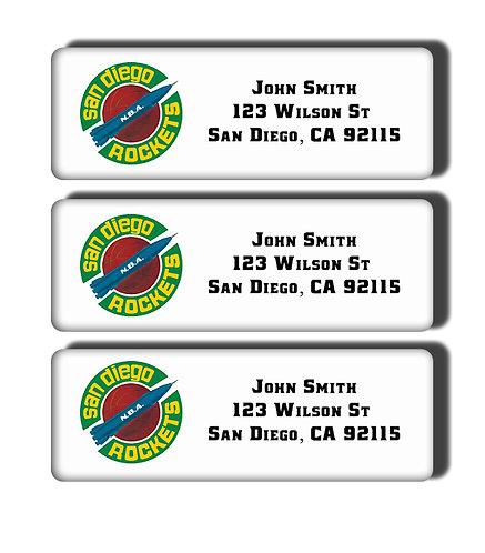 San Diego Rockets Labels