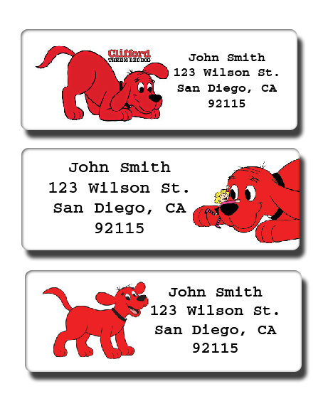 Clifford the Big Red Dog Labels