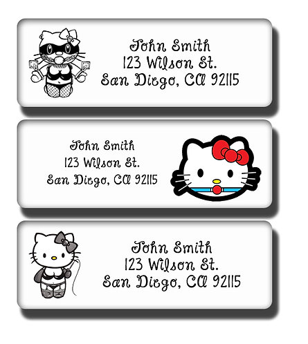 Hello Kitty BDSM Labels