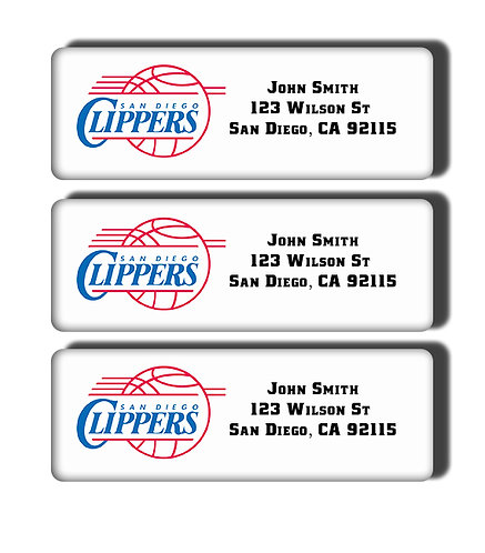 San Diego Clippers Labels