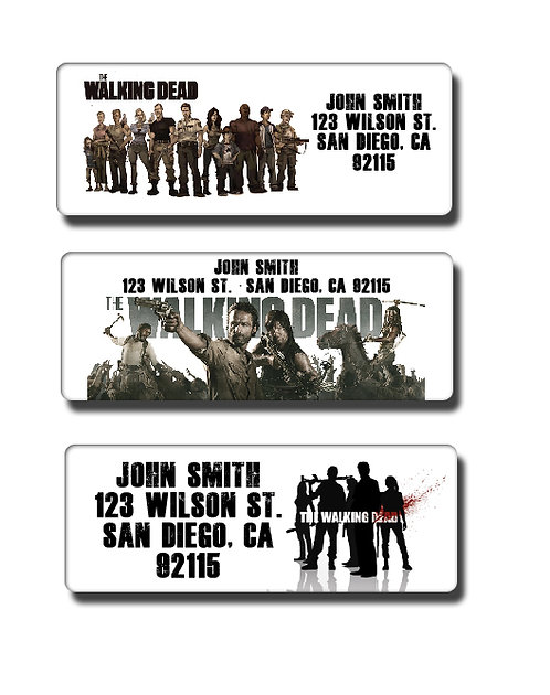 Walking Dead Labels