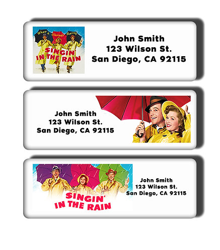 Singin' in the Rain Labels