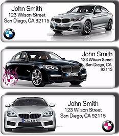BMW return address labels