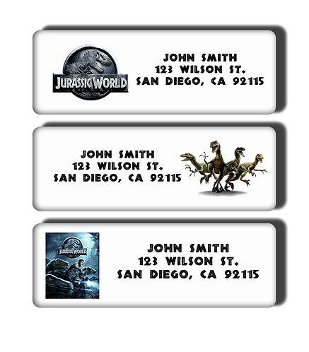 Jurassic World Labels