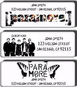 Paramore return address labels