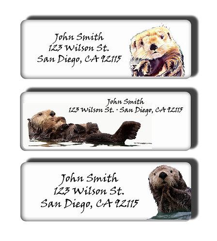 Sea Otter Labels