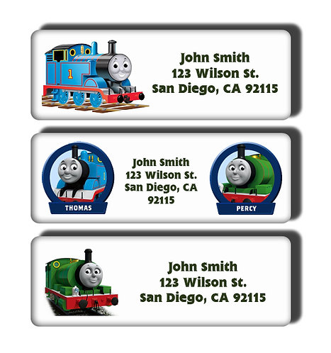Thomas the Tank Engine Labels