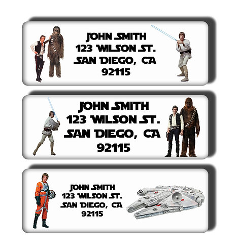 Star Wars Movie & Character Specific Labels