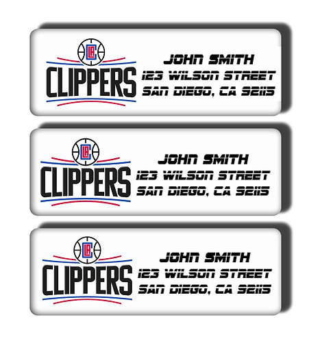 Los Angeles Clippers Labels