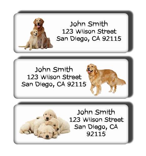Golden Retrievers Labels