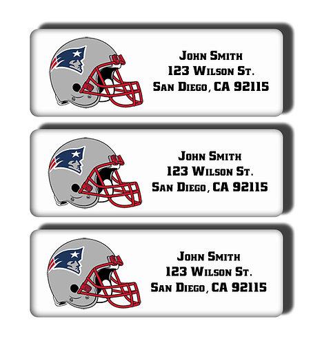 New England Patriots Labels