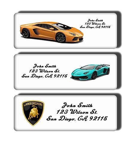 Lamborghini Cars Labels